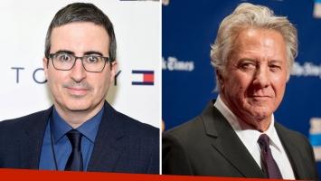 Dustin Hoffman y John Oliver estallaron al aire en un duro debate sobre acoso sexual