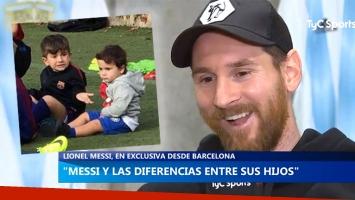 La divertida frase de Messi sobre sus hijos.