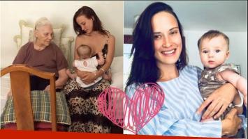 ¡Generaciones de amor! La foto súper tierna de Camila Cavallo amamantando a Alma bajo la mirada de su abuela