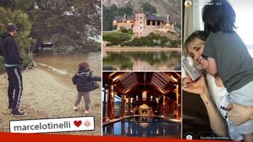 """Las vacaciones de Tinelli y Guillermina junto a Lolo en su increíble mansión de Esquel: """"Maravilloso viaje por..."""