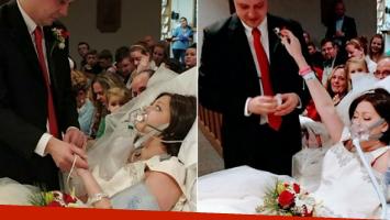 Murió de cáncer horas después de casarse