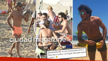 ¡Playa de soltero! Los días de Pico Mónaco, en Punta. (Foto: GM Press Punta)