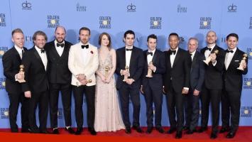 Los grandes ganadores de Los Globos de Oro 2017. (Foto: AFP)