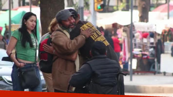 Hombre de la calle dio una lección de vida