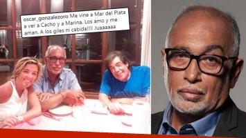 Fuerte frase del Negro González Oro en apoyo a Cacho Castaña: ¡A los giles, ni cabida!