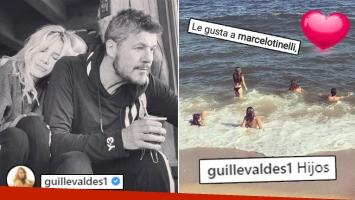 ¡Amor en multitud! Guillermina Valdés y una tierna postal familiar en el mar de Punta: Hijos