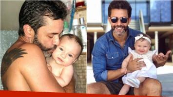 Mariano Martínez y su foto súper tierna con su hija Alma en la ducha: Amor, amor, amor