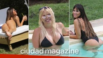 ¡Dos bombas! Nazarena Vélez, súper sexy en la pileta junto a una amiga diosa… ¡y blooper hot!