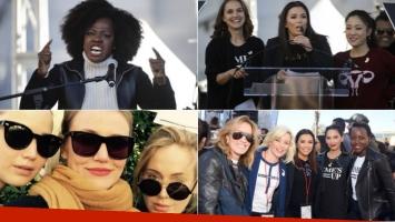 Famosas de Hollywood se unieron a la Marcha de las Mujeres 2018