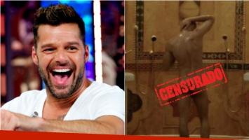Filtran una foto de Ricky Martin totalmente desnudo en una ducha