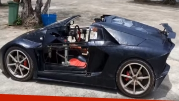 Este granjero construyó su propio Lamborghini