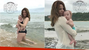 Las fotos de Agustina Kämpfer y su hijo de vacaciones en Brasil: Fue un disfrute enorme