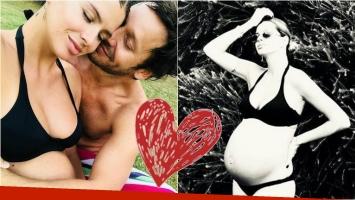 China Suarez, a full con su pancita de 35 semanas y romántica foto con Vicuña: Te amo