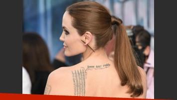 Angelina Jolie: cada uno de sus tatuajes tiene un significado muy personal