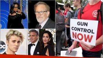 Estrellas de Hollywood donan millones a movimiento anti armas