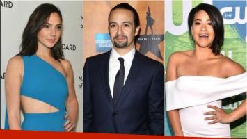 Gal Gadot, Gina Rodríguez y Lin-Manuel Miranda, presentadores para los Óscar
