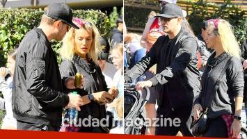 ¡Primeras fotos! Luisana Lopilato, embarazada junto a Michael Bublé y sus hijos en Disneyland. (Fotos: Grosby Group)