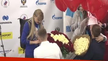 A dos atletas rusas les pidieron matrimonio tras llegar de Pyeongchang 2018
