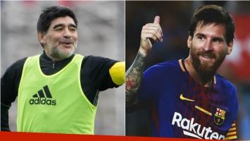 El saludo de Maradona a Messi por el nacimiento de su tercer hijo