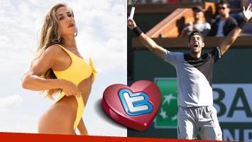 El mensaje de Jimena Barón para Del Potro, tras ganar el Masters 1000 de Indian Wells: El mejor del mundo