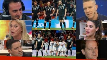 Escandalosa derrota de la Selección con España. Foto: Clarín/Olé/Web