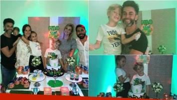 Las fotos de Mariano Martínez, Juliana Giambroni y sus parejas en el cumpleaños de Milo