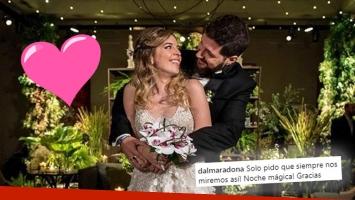 Dalma Maradona contó detalles de su gran boda y mostró su vestido de novia: Fue una noche increíble y soñada