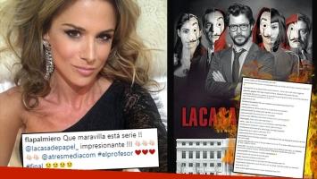 Flavia Palmiero publicó en Instagram… ¡el final de La Casa de Papel!: los furiosos mensajes de sus seguidores