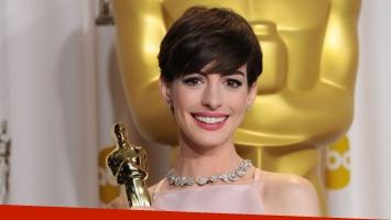 Descubrí por qué Anne Hathaway no se alegró al recibir el Oscar