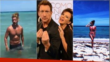 El problemita de Nicolás Vázquez y Gimena Accardi en las playas de Miami: Cero algas