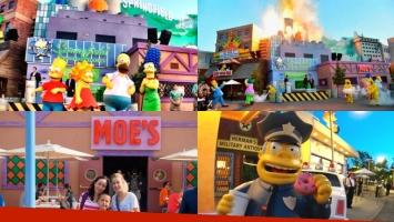 La ciudad de Los Simpson en una réplica perfecta de Universal Studios. Foto: Twitter
