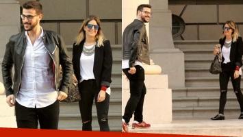 Diego Leuco y su novia Daniela. (Fotos: revista Paparazzi)
