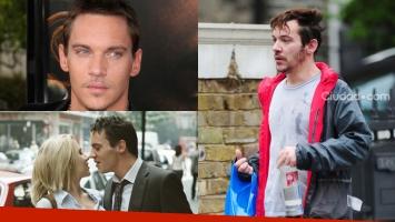 Jonathan Rhys Meyers y una triste imagen, borracho en la calle Fotos: Grosby Group y Web.