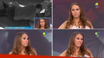 La reacción de Bárbara Silenzi al ver el beso de Francisco Delgado a Romina en Gran Hermano 2015: