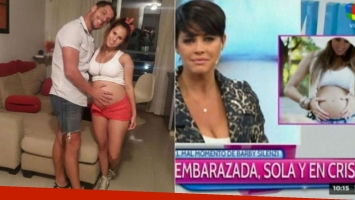 Barby Silenzi, embarazada de 8 meses y sola Foto: Web.