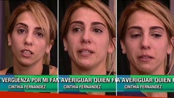 El llanto desconsolado de Cinthia Fernández en Este es el show