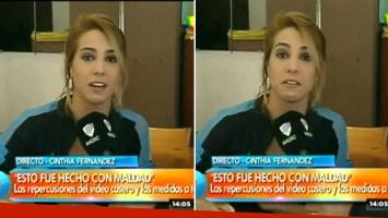Cinthia Fernández, angustia y acusación por su video prohibido. Foto: captura de TV: