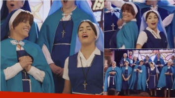 Valeria Lynch y Lali Espósito cantaron juntas en Esperanza Mía. Foto: Prensa El Trece/ Captura