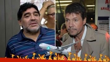 Diego Maradona, desbocado: despotricó contra Marcelo Tinelli en TV. Foto: captura.