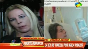 Soledad Aquino y una denuncia en Facebook que ratificó en Infama. Foto: Captura