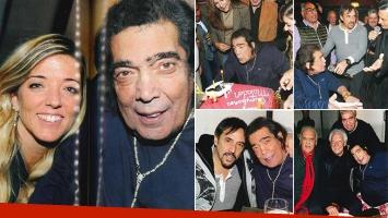 Cacho Castaña celebró su cumple con amigos. Fotos: revista Caras.