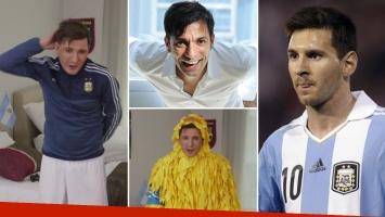Martín Bossi explicó su imitación de Lionel Messi.