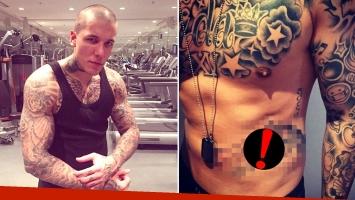 El nuevo y polémico tatuaje de Alexander Caniggia. Foto: Instagram.