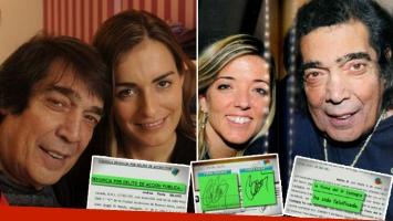 La exmujer de Cacho Castaña denunció penalmente a la actual pareja por una estafa de 190 mil pesos. Foto: Web y captura.