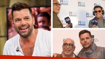 Ricky Martin con El Negro Oro. Foto: Indalo Media.