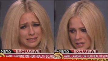 El llanto de Avril Lavigne en Good Morning America. Foto: Captura