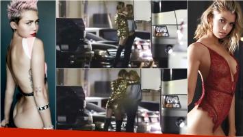 Miley Cyrus y Stella Maxwell fueron descubiertas muy juntas. Foto: Captura / Web