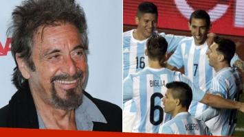 Al Pacino alentó a la Selección como un argentino más.