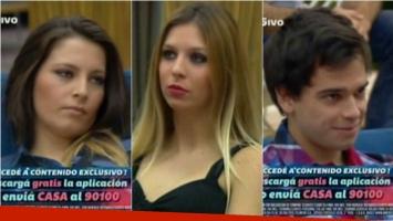Romina, Angie y Matías, los últimos eliminados de Gran Hermano 2015. Foto: Captura