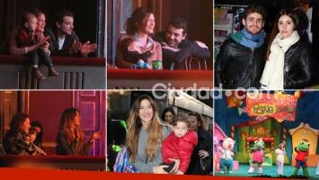 ¡Mamis sonrientes! Paula Chaves con Olivia y Jimena Barón con Morrison: divertida salida al teatro con sus hijos. Fotos: Movilpress.